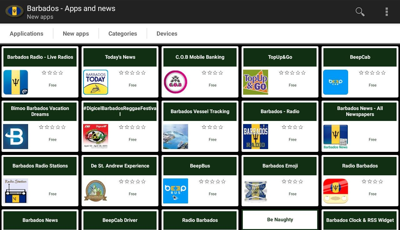 Barbadian apps and tech news- screenshot