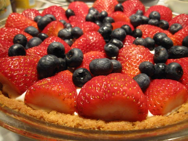 The tart with the crust made from Stormy Stewart's Lavender Shortbread Cookies.