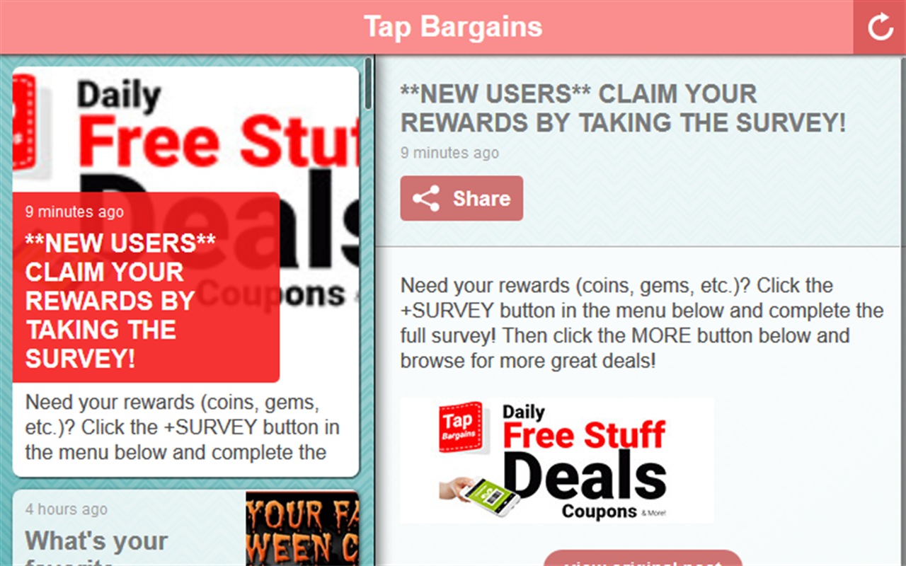 Tap Bargains- screenshot