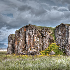 Cliff in Iceland by Johann Pall Valdimarsson - Landscapes Caves & Formations