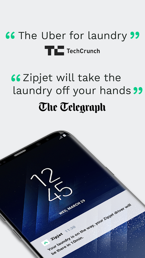 Laundry App by Zipjet: Your mobile Dry Cleaner- screenshot