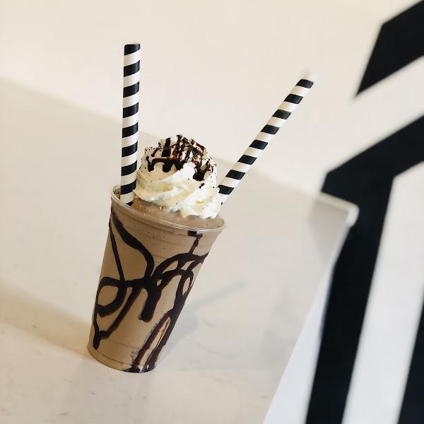 Gluten free mocha milkshake