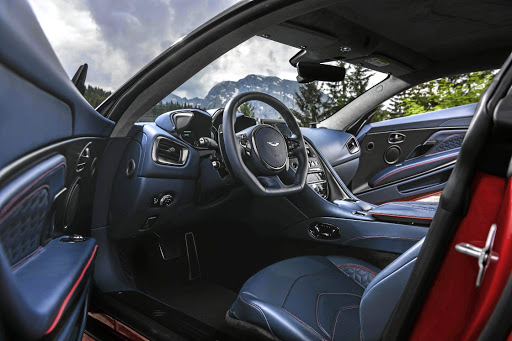The interior features lots of leather and alcantara as well as Mercedes-AMG switchgear. Picture: ASTON MARTIN