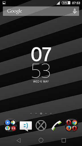 Streaks Gray XZ Theme