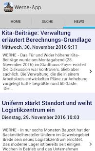 Werne-App - náhled