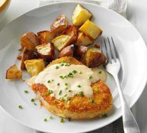 Almond-crusted Chops With Cider Sauce Recipe