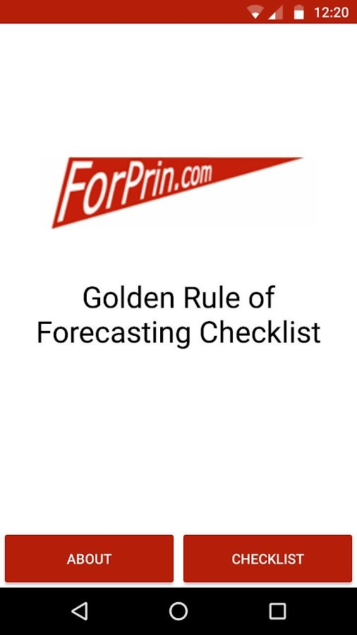 Forecasting Principles- screenshot