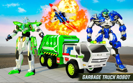 Flying Garbage Truck Robot Transform: Robot Games modavailable screenshots 7