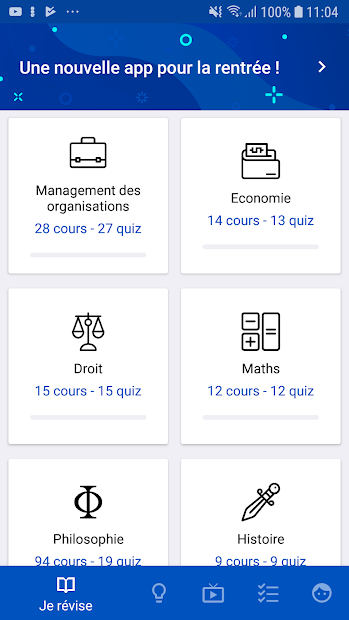 Bac STMG 2020 Android App Screenshot
