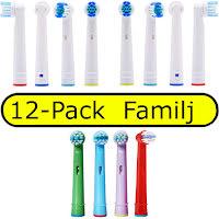 12-Pack Oral-B Kompatibla Tandborsthuvud Familjen Barn som Vuxna