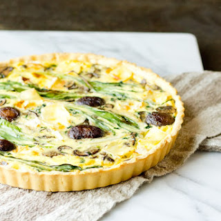 Quiche with Ramps, Mushrooms, and Brie
