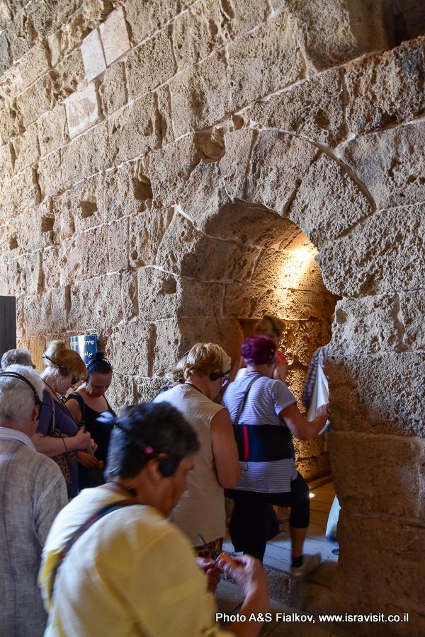 В крепости крестоносцев – госпитальеров в Акко. На экскурсии гида Светланы Фиалковой.