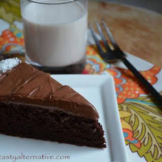Delightful Vegan Double Chocolate Cake.