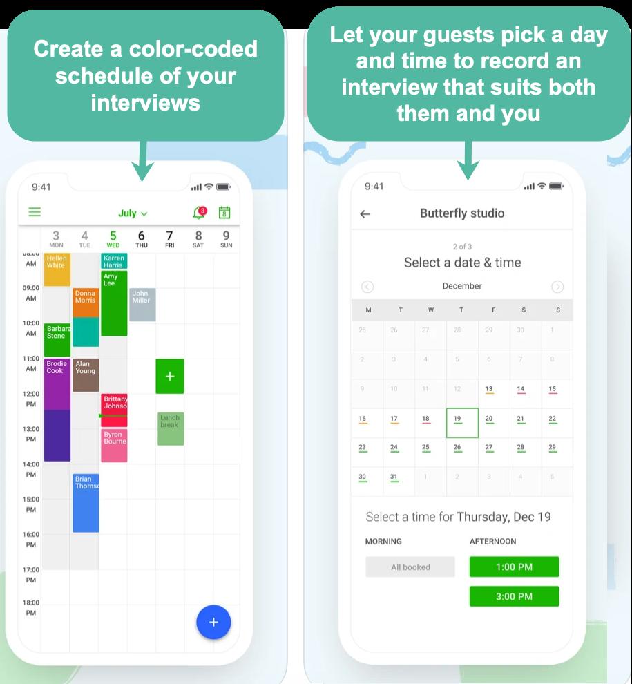 Appointfix calendar scheduling screenshot