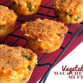 Vegetable Macaroni and Cheese Muffins.
