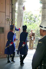 Photo: The new guards advance to their position