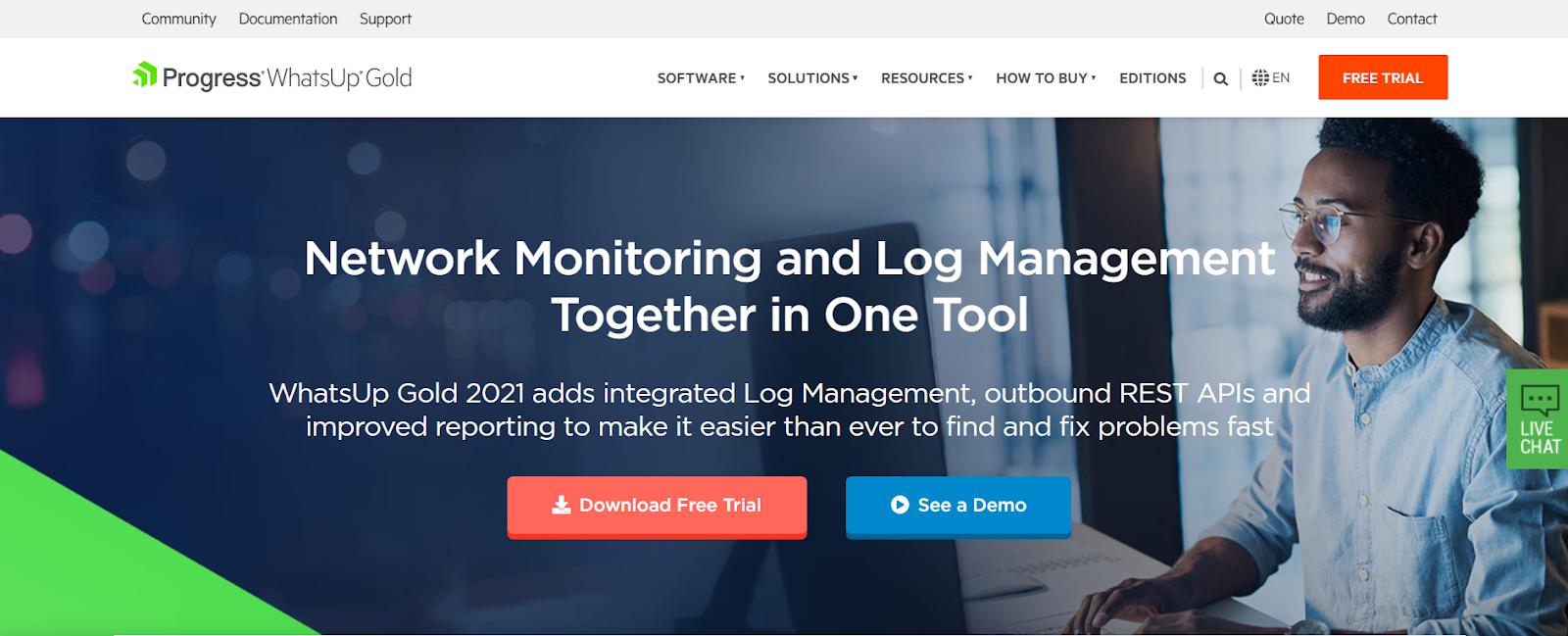 Progress WhatsUp Gold Network Performance Monitoring Tool