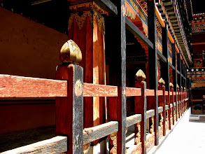 Photo: Inside Rinpung Dzong.