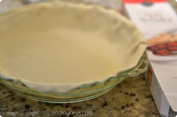 "Place the pie crust in a Pyrex type 9"" pie dish. Pre bake the..."