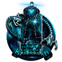 Robot Tech Neon Keyboard icon