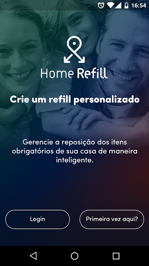 HomeRefill: captura de tela
