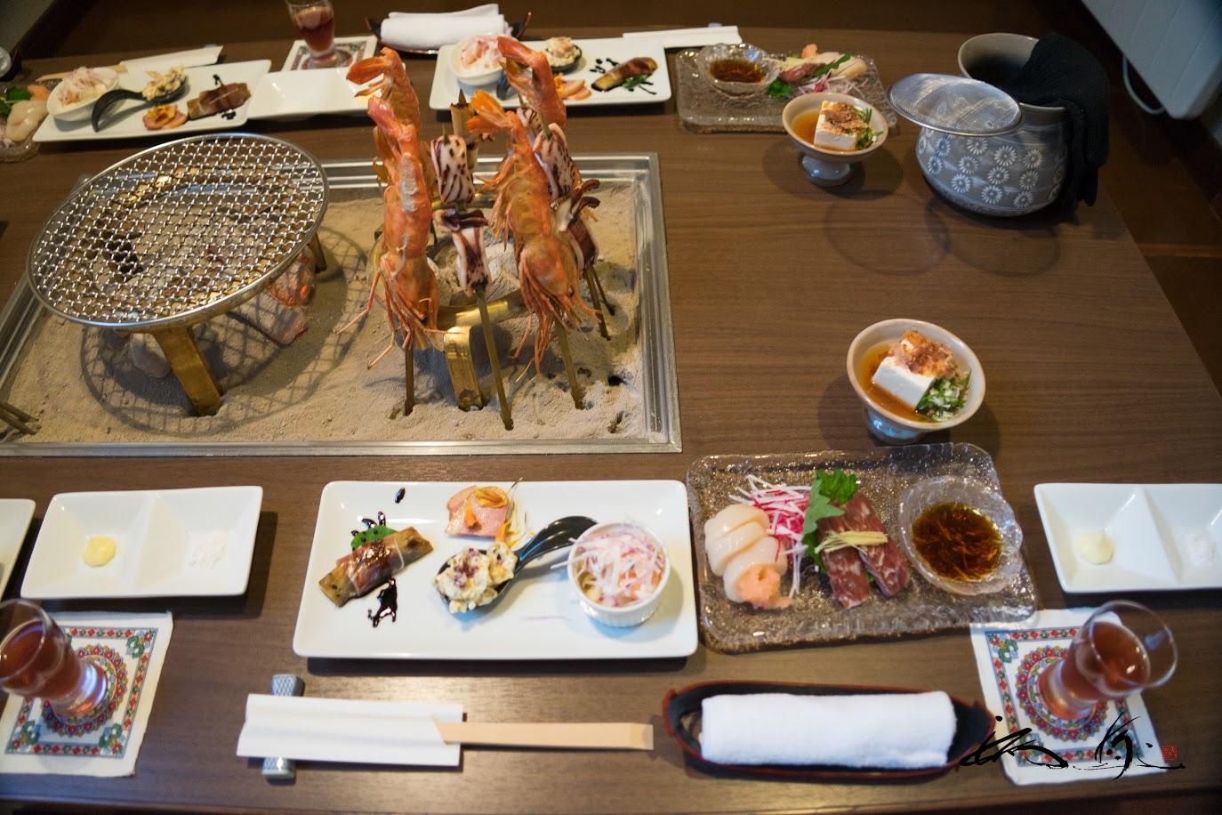 三笠天然温泉 太古の湯・別館 旅籠(三笠市)での夕食