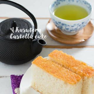 Kasutera Japanese castella cake.
