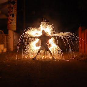 Fire Play by Mervin Anto - Abstract Fire & Fireworks ( light sketch play, light painting, pwcfireworks, fireworks, kids, light art )