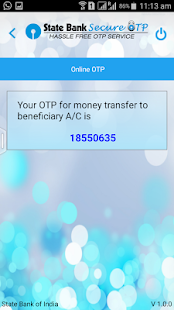 State Bank Secure OTP- screenshot thumbnail