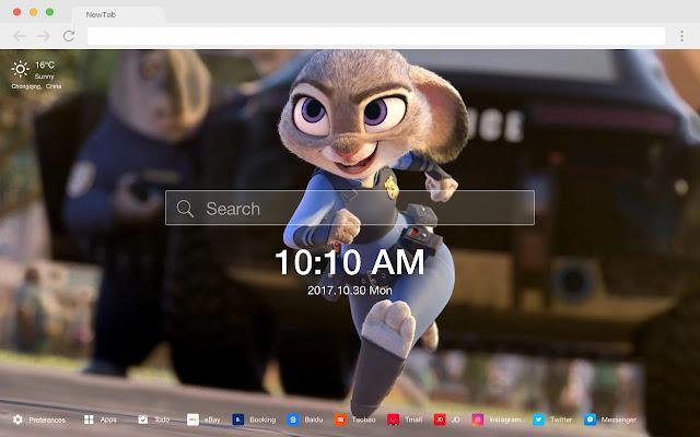 Zootopia Popular Movies New Tab HD Themes