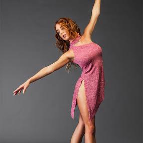 Savanna by Charles Lugtu - People Portraits of Women ( studio, portraiture, fashion, red hair, dress, ballet, dancer, beautiful, woman,  )