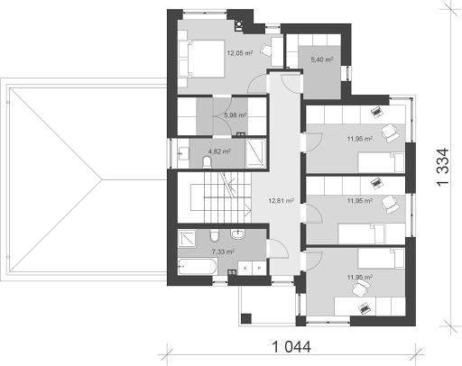 UA55 - Rzut piętra
