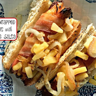 Bacon Wrapped Hot Dogs with Pineapple Salsa Recipe