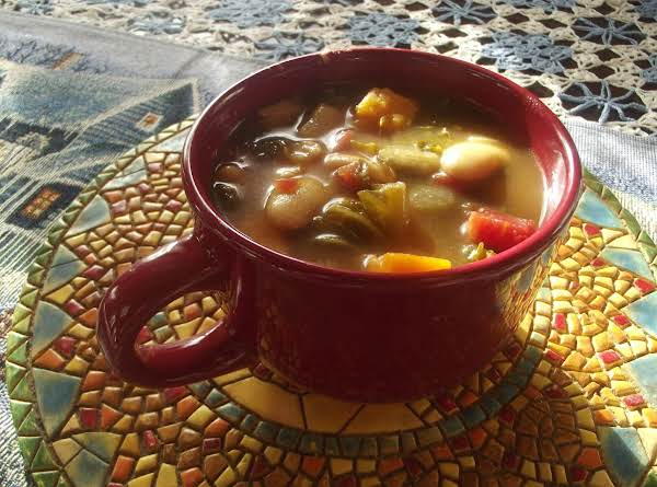 Kale, Butter Bean And Sweet Potato Soup