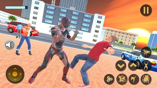 Superhero Captain Robot Flying Newyork City War 8