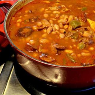 Portuguese Beans With Linguiça.