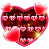 Red Heart Keyboard Theme
