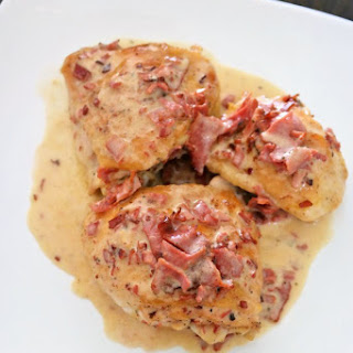 Chicken Thighs with Bacon Ranch Cream Sauce