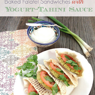 Falafel Sandwiches with Yogurt-Tahini Sauce
