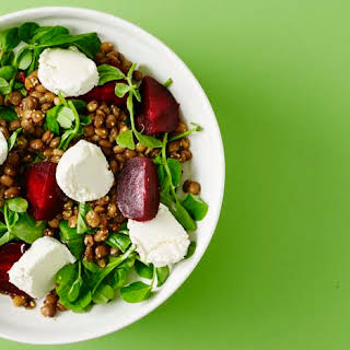 Beetroot, Lentil And Goats' Cheese Salad.