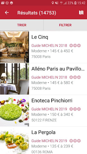 Screenshot for MICHELIN Guide Europe 2019 in United States Play Store