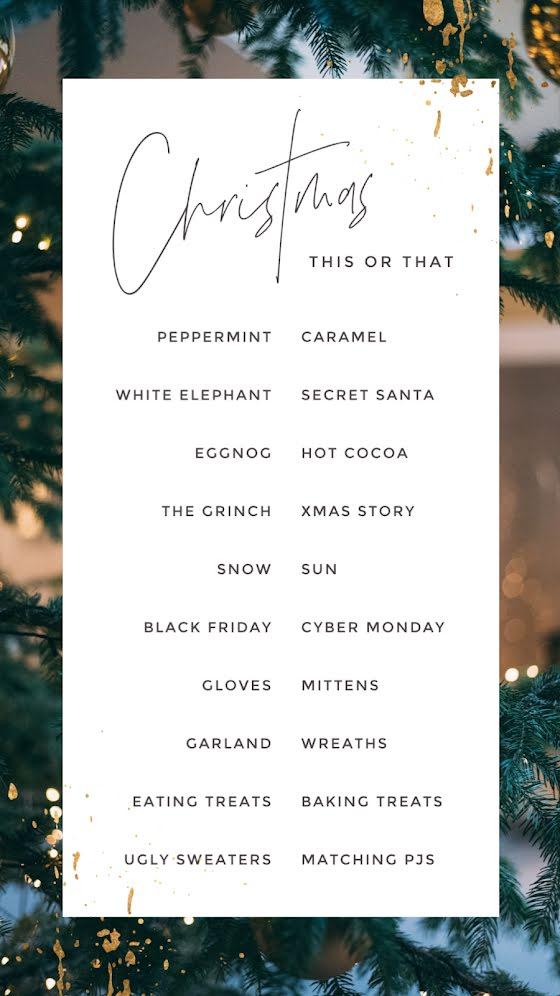 This or That Christmas - Christmas Template