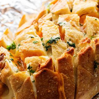 Three Cheese Garlic Pull Apart Bread.