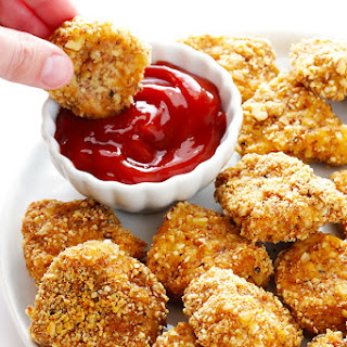 Almond-Crusted Chicken Nuggets.