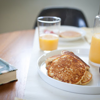 Cornmeal Pancake Breakfast