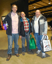 Photo: Montgomery County Woodturner club (MCW) members Matt Radtke, Mike Colella, and Carl Powell on Friday Jan 2, 2015, first day of the show.