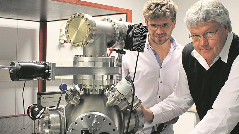 Academics Lucas Erasmus (left) and professor Hendrik Swart (right).