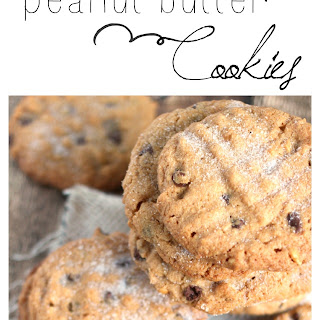 Flourless Chocolate Chip Peanut Butter Cookies