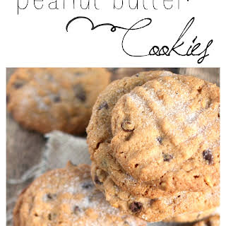 Flourless Chocolate Chip Peanut Butter Cookies.