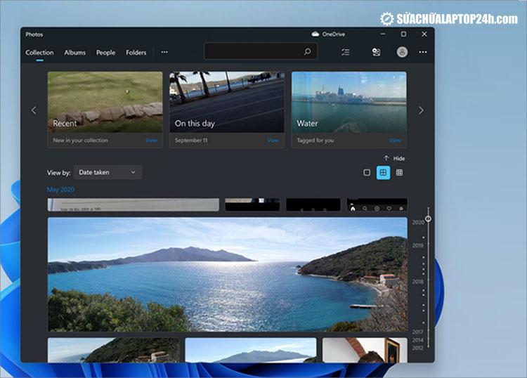 Ứng dụng Photos mới có các góc bo tròn